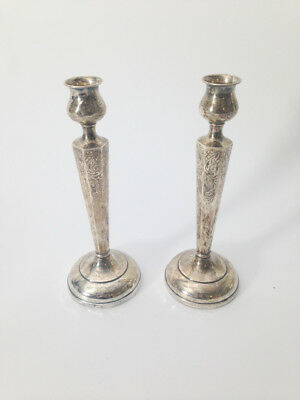 Sterling Silver Embossed Candle Sticks
