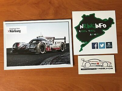 CP Porsche 919 N°1 Greetings from Nürburgring 24 heures du Mans WEC 2017+Sticker
