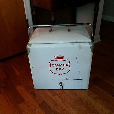 Vintage Mid-Century Ice Cooler 'Canada Dry""