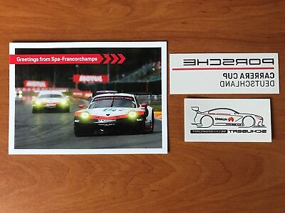 CP Porsche 911 Greetings from Spa 24 heures du Mans WEC 2018 / 2019 + 2 Stickers
