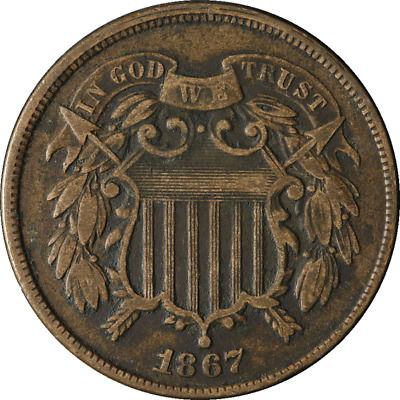 1867 Two (2) Cent Piece Great Deals From The TECC Bargain Bin