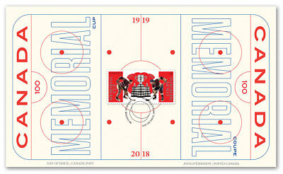 Canada 2018 100Th Presentation Of The Memorial Cup First Day Cover