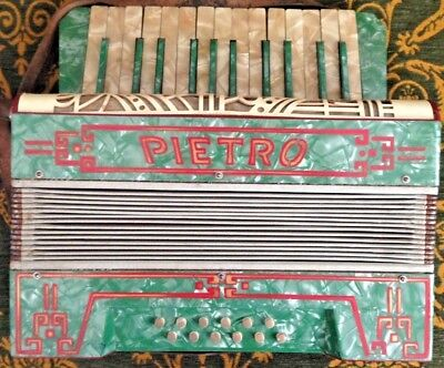 Pietro Accordion - Vintage - Very Rare & Highly Collectable - Good Cond' For Age