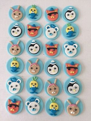 OCTONAUTS CUPCAKE TOPPER EDIBLE BIRTHDAY CAKE TOPPERS x 12