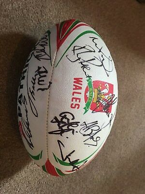 Signed Wales Rugby Ball in aid of strictly top dancer (Cardiff breast cancer)