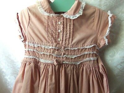 Vintage CINDERELLA  Shirley Temple Brand Lace & Bows Dress With Petticoat LOOK!!