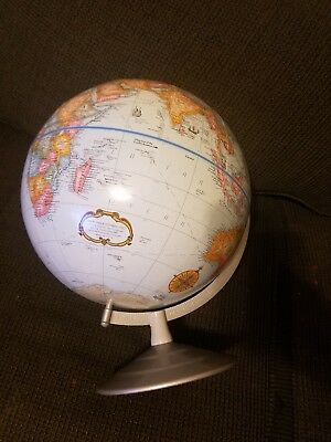 "Vintage 1950's 1960's Cram's Imperial World Globe 10"" METAL COFFEE, MADE IN USA†"