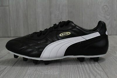 c2a5ad454 29 New Mens PUMA King Top DI FG Leather Soccer Cleats Black White 7 170115  01