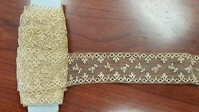 ANTIQUE VINTAGE INSERTION LACE  perfect for doll making 5 yards by 1 inch wide