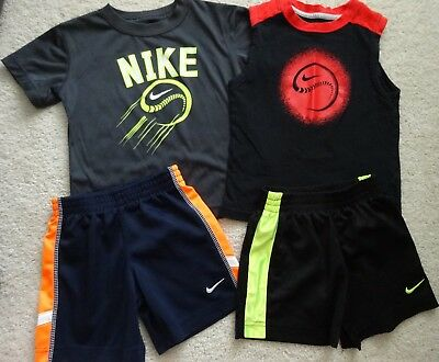 Nike toddler boys 4 piece lot 3t dri fit shorts shirts tank