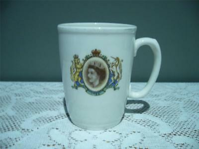 1954 Royal Visit Souvenir Mug - Kirklands Pottery - England - Gc