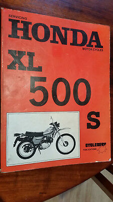 Honda Xl 500S 1980 Workshop Manual Very Good Condition