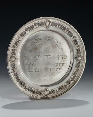 A STERLING SILVER SEDER TRAY BY WHITING. American, early 20th century.