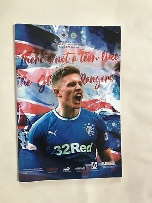 Rangers v Celtic March 11th  2018 League Mint Programme MINT UNREAD CONDITION