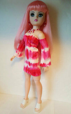 CISSY DOLL CLOTHES Mod Tie-dye DRESS & Jewelry Set Retro HM Fashion NO DOLL d4e