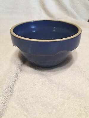 """Red Wing 6"""" Blue Mixing Bowl - Marked Red Wing USA"""