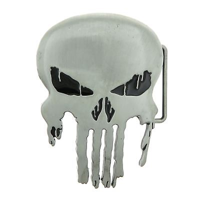 Punisher Skull Antique Silver Metal Belt Buckle