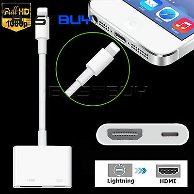 NEW Lightning to Digital TV HDMI Adapter For Ipad air iphone 7 7Plus 8BBC