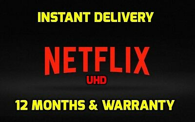 Netflix 4k + HD 12 Months & Warranty - Instant Delivery || Summer Sale