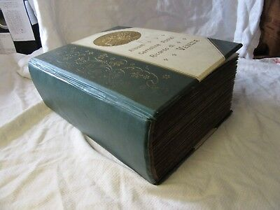 Huge 496 POSTCARD ALBUM 1900s Topographical Greetings Mostly UK - 4.5kg