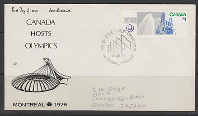Canada #687 $1 Olympic Sites On Nr Cover Cachet First Day Cover