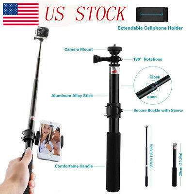 Extendable Telescopic Monopod Selfie Pole Handheld Stick for SJ9000 Camera&Phone