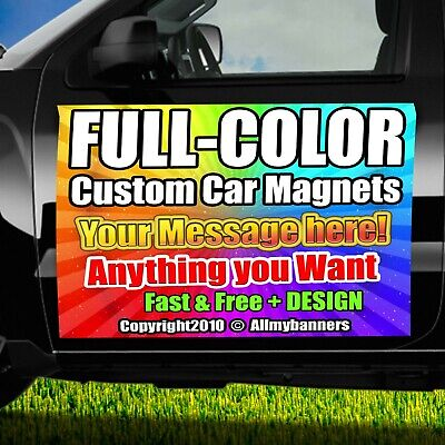 2 - 18x24 Custom Car Magnets Magnetic Auto Truck Signs Free Design Included! mgn