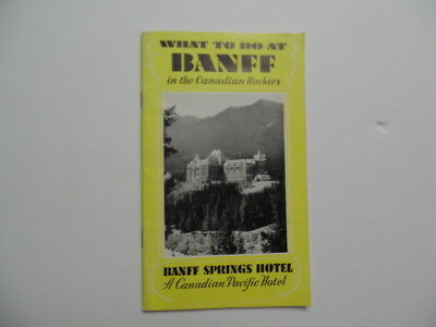 1930 Canadian Pacific Railway Banff Springs Hotel Guide Book Brochure Vintage
