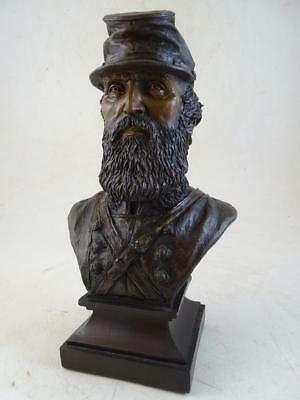 Vintage Ron Tunison Stonewall Jackson Civil War Statue Bust Cold Cast Bronze