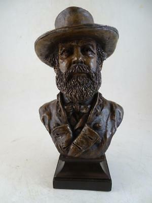 Vintage Ron Tunison Robert E Lee Civil War Statue Bust Figurine Cold Cast Bronze