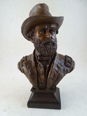 Vtg Ron Tunison Ulysses S Grant Civil War Statue Bust Figurine Cold Cast Bronze