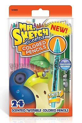 Mr Sketch Scented Twist Assorted Colored Pencils 24 Pack New 1970620