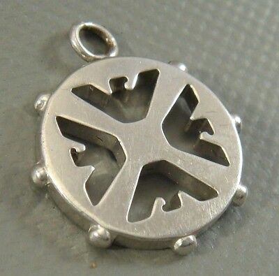 UNIQUE & Stylish SOLID .925 STERLING SILVER Thunderbird Necklace Pendant / Charm