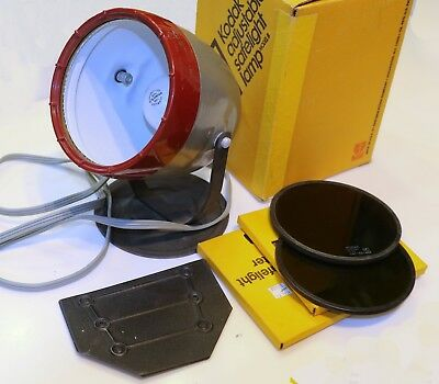 Kodak Adjustable Safelight Lamp Model B with box and OC and OA Safelight filters