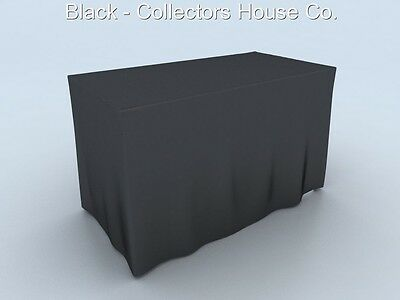 DJ Banquet 4' Table Cover No Wrinkle , Free Shipping