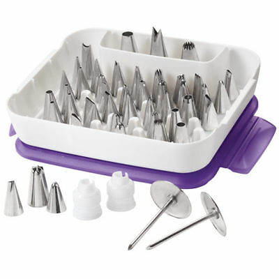 Wilton Master Cake Decorating Standard Couplers Flower Nail Nozzle Tips Set Kit