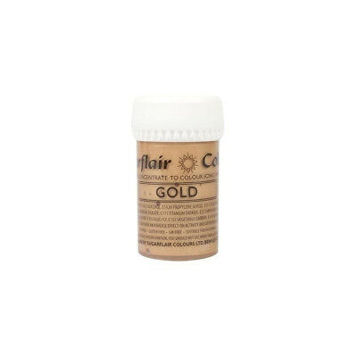 Sugarflair SATIN GOLD Concentrated Food Icing Colouring Edible Paste Gel