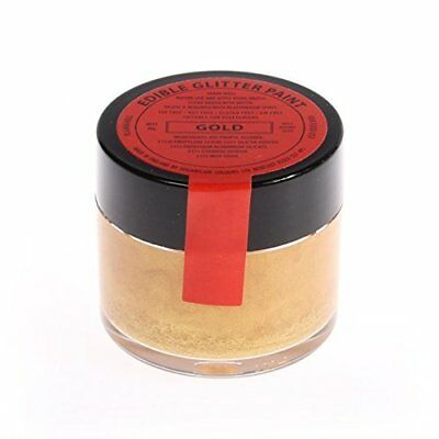 10 x Sugarflair 20g GOLD Edible Glitter Paint Cake Icing Sugarpaste Decorating