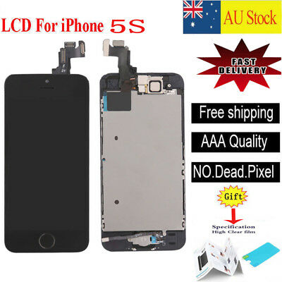 For iPhone 5S black LCD Screen Touch Digitizer Full Assembly replacement