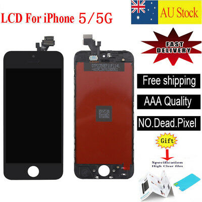 For iPhone 5 5G Black LCD Display Touch Screen Digitizer Assembly Replacement
