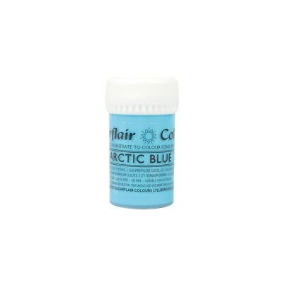 Sugarflair SATIN ARCTIC BLUE Concentrated Food Icing Colouring Edible Paste Gel