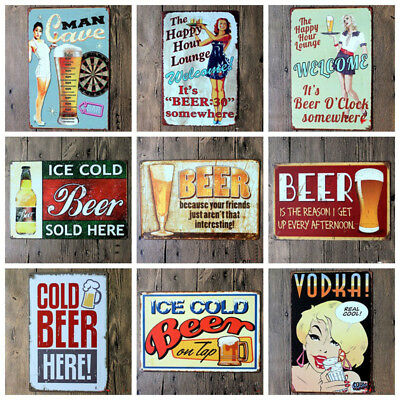 ❤️Tin Metal Sign Plaque Bar Pub Vintage Retro Wall Decor Poster Home Club Tavern