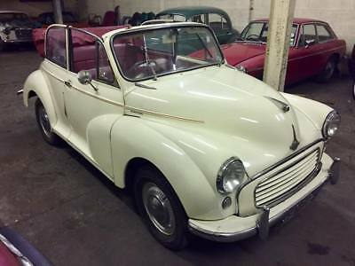1961 Morris Minor 1000 Convertible - 1275, Servo + 5 speed! Easy Project Tourer