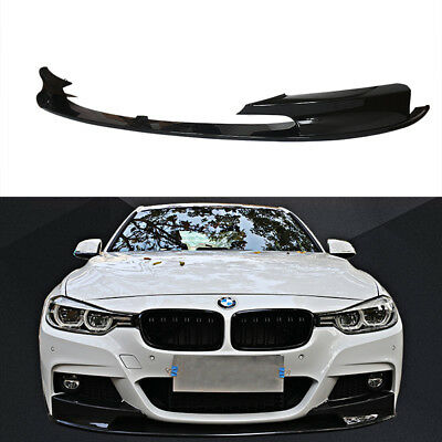 For 2012-2018 BMW F30 3Series Performance Style Front Bumper Lip Gloss Black-2pc