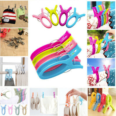 20pc Large Bright Candy Color Plastic Beach Towel Pegs Clips to Sunbed Tool Home
