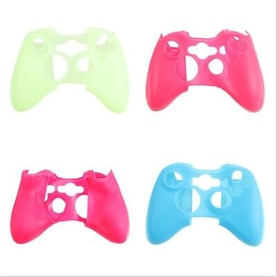 Grip Silicone Skin Case Cover For Xbox360 Controller Soft Protect Luminous USA