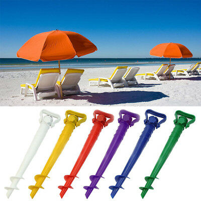Beach Garden Patio Sunshade Holder Parasol Ground Nail Earth Anchor Spike Stand