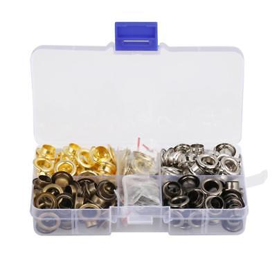 140sets 8mm Metal Round Eyelets with Washers Leather Craft Grommets Mixed Colour