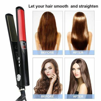 45W Professional Salon Ceramic Hair Straightener Oil Steam Styler Flat Iron