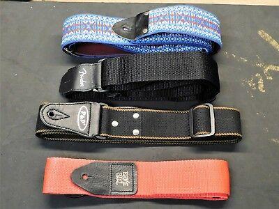 Used Fender Ernie Ball P&P Vintage - Electric Guitar / Bass STRAP LOT of 4!!!